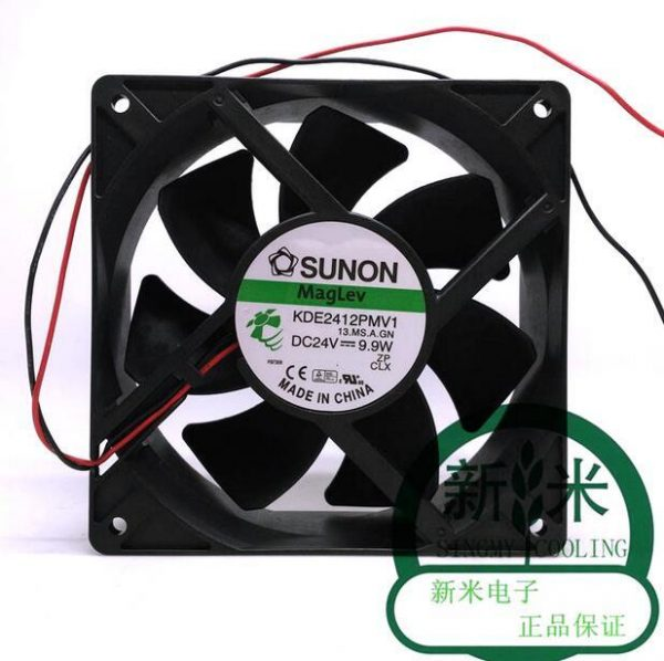 Original Sunon KDE2412PMV1 DC 24V 9.9W 12cm 120*120*38MM 2-Wire cooling Fan