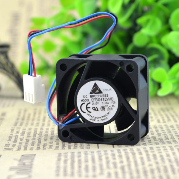 Free Shipping Original Delta EFB0412VHD 4020 4cm 40mm DC 12V 0.18A 3-pin 1U server alarm case axial cooling fans