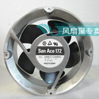 Original Sanyo 109E1712H501 17cm 17251 12V 1.2A round aluminum frame cooling fan