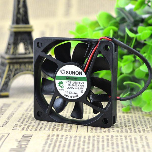 Original SUNON Sunon KDE1206PFV1 6010 12V 1.4W 6CM 60 * 60 * 10mm slim silent fan CPU fan