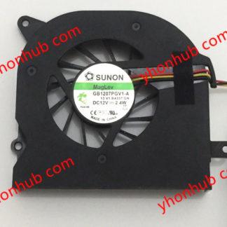 SUNON GB1207PGV1-A 13.V1.B4337.F.GN DC 12V 2.4W 3-wire Server Laptop Fan