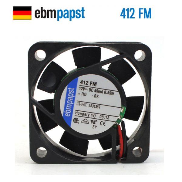 Original EBM PAPST 412FM 12V 0.045A 0.55W 40*40*10MM cooling fan