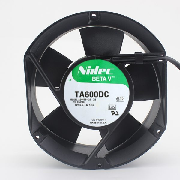 For NIDEC TA600DC A34458-26 956520 48V 0.42A Axial fan cooling fan