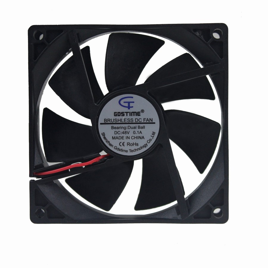 5Pcs 12V Brushless Cooler 92x92x25mm Double Ball Bearing Computer Case Fan
