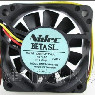 Original NIDEC D06R-12TH DC 12V 0.16A 6CM 60*60*15 3 Lines Inverter Silent Cooling Fan