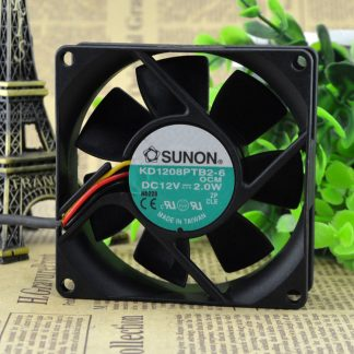 Free Delivery. 8025 8 cm chassis power supply 12 v 2.0 W fan KD1208PTB2-6