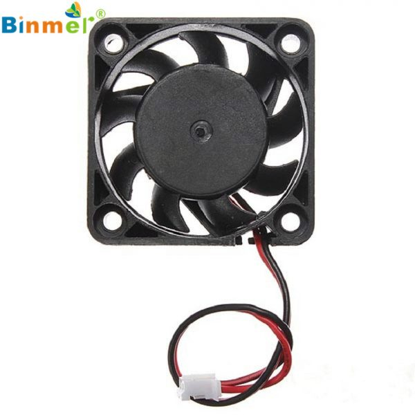 Adroit 12V 2 Pin 40mm Computer Cooler Small Cooling Fan PC Black F Heat Sink MAR26