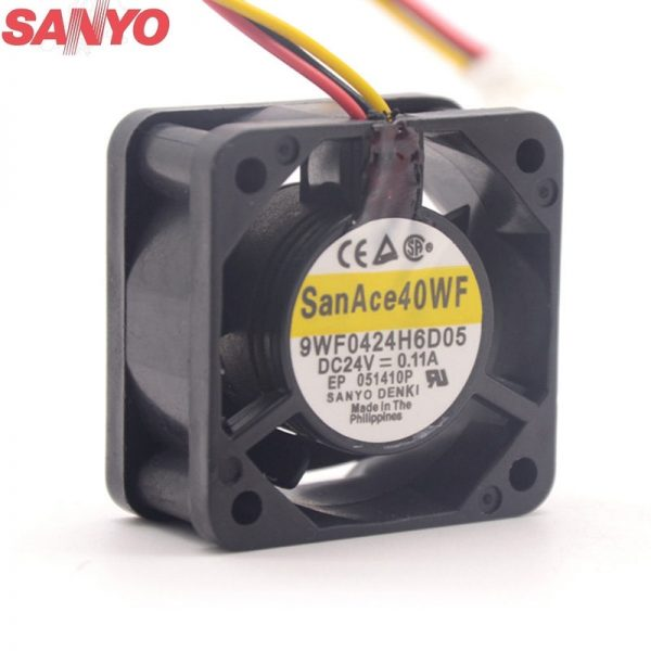 Sanyo 9WF0424H6D05 4020 DC 24V 0.11A 3-P axial cooling fan waterproof