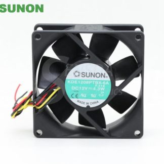 Original Sunon KDE1208PTBX-6A 8025 8cm 80mm DC 12V 4.3W server inverter axial cooling fans