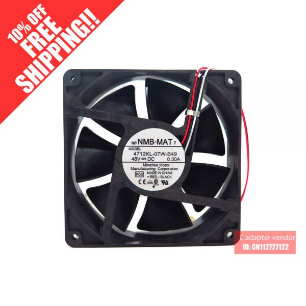 4712KL-07W-B49 NMB-MAT 12032 48V 3 wire cooling fan