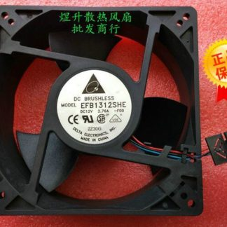 Original Delta EFB1312SHE FOO DC 12V 2.76A 127*127*38mm 3-line Air Cooling Fan