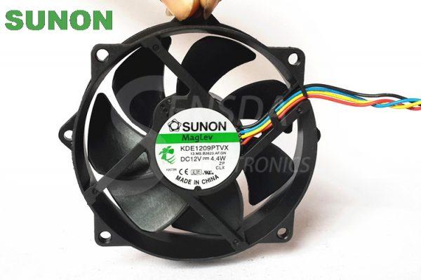 Original Sunon Maglev Round CPU Case Cooling Fan KDE1209PTVX 4 4W 4 Pin DC 12V Tested