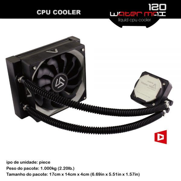 ALSEYE CPU Water Cooler PWM 120mm Fan TDP 280W CPU Water Cooling for LGA775/115X/1366/2011/AM2/AM3/AM3+/AM4