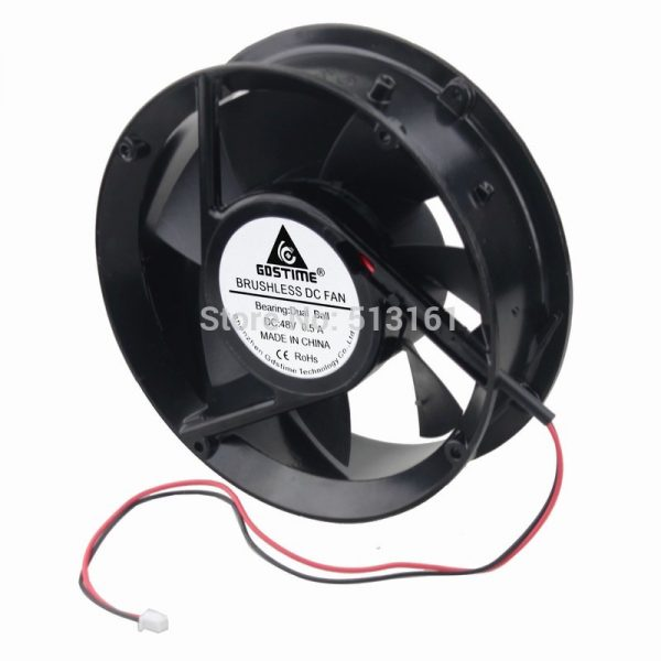3Pcs Gdstime 170MM 48V DC 17251 170*170x51mm Ball Industrial Cabinet Inverter Cooling Fans