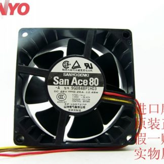 Sanyo 8038 8CM 9G0848P1H03 48V quiet PWM fan thermostat server