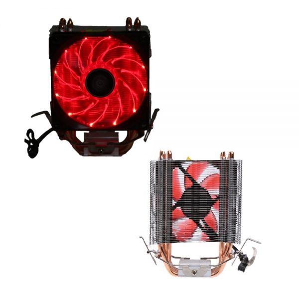 4 Heatpipe 130W Red LED CPU Cooler Fan 3Pin Aluminum Heatsink For Intel LGA775/1156/1155 AMD AM3/AM2+/AM2 92*92*25mm C26