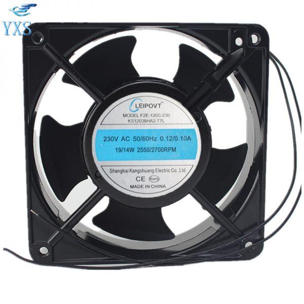 F2E-120S-230 AC 230V 0.12A/0.11A 50/60HZ 19W/14W 2700RPM 2 Wires 12038 12cm 120*120*38mm Electric Cabinet Cooling Fan
