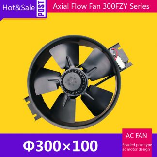 Spot Sale 300FZY8-D Small Size Cooling Fan Axial Flow Ventilator /0.55A 200W 1200CFM 2100RPM Ventilation Equipment Draught Fan