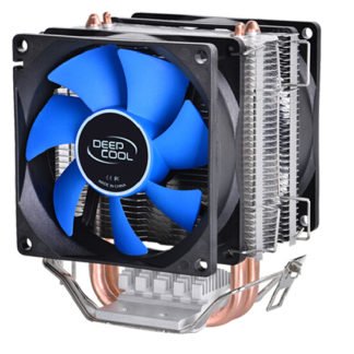 Deepcool MINI CPU cooler 2pcs 8025 fan double heatpipe radiator for Intel LGA 775/115x, for AMD 754/940/AM2+/AM3/FM1/FM2 cooling