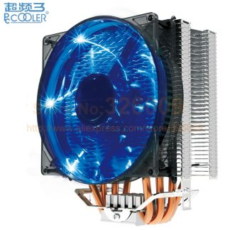 PcCooler S129 X4 CPU radiator cooling fan 12cm fan 4pin PWM for Intel LGA775 1150 1151 1155 1156 2011 for AMD AM3+ FM1 FM2