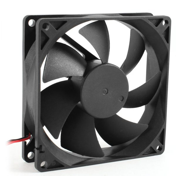 92 x 92 x 25mm DC 12V 2Pin 65.01CFM Computer Case CPU Cooler Cooling Fan