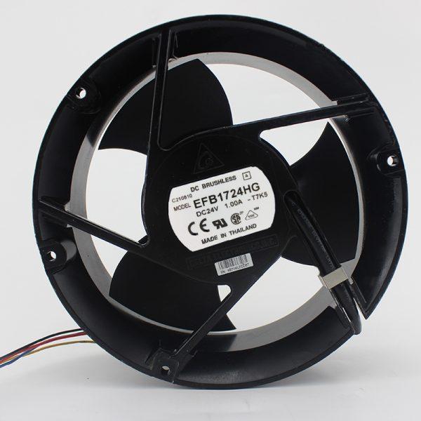Brand new original EFB1724HG 24V 1A 17251 17CM 3 leaf double ball fan
