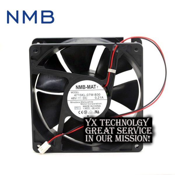 NMB 120*120*38mm 2-wire 12038 12CM 4715KL-07W-B30 48V 0.21A inverter DC fan