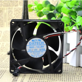 The original DATE CH 0825-12LLBA 12V 0.05A 8CM 80*80*25 three wire chassis fan