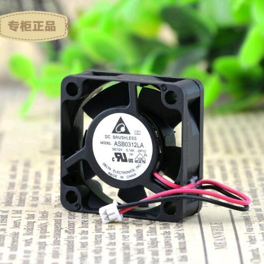 Original Delta 30*30*10 3CM DC 12V 0.10A ASB0312LA 2-line Small Silent Equipment Cooling Fan
