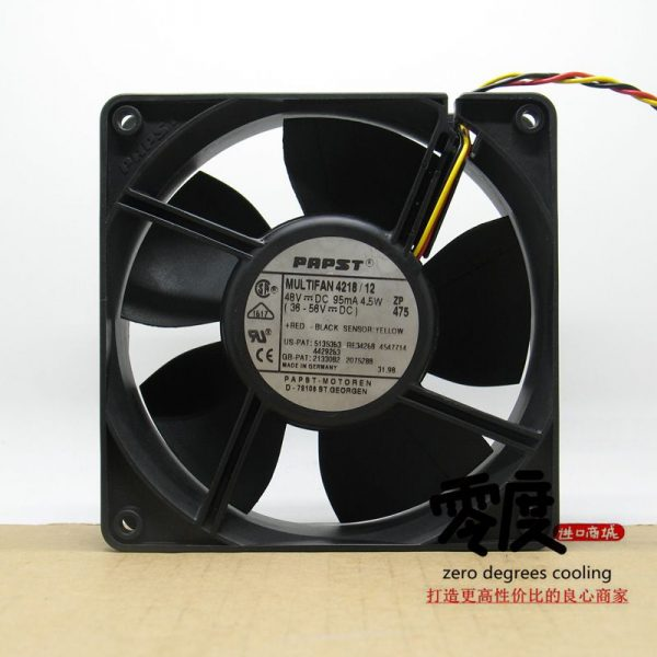 Original EBM PAPST 4218/12 48V 4.5W 120*120*38MM Inverter cooling Fan