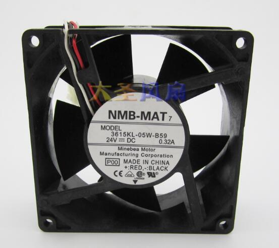 Wholesale: original NMB 9038 3615KL-05W-B59 DC24V 0.32A 3 line inverter fan