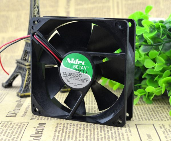 Nidec 90*90*25 12V 0.29A M33422-16 two line double ball CPU chassis power supply fan