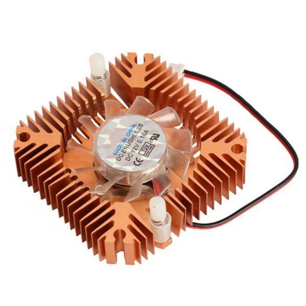 55mm Aluminum Cooling Fan Heatsink Cooler for PC Computer CPU VGA Video Card Bronze EM88