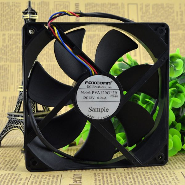 Free Delivery. 12 cm PVA120G12R 12 v 0.24 A four-wire PWM temperature control fan