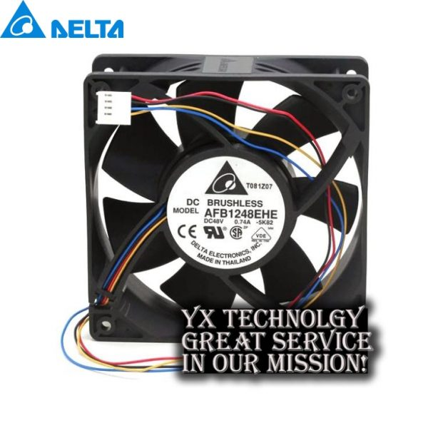 Delta New Original package AFB1248EHE 12038 48V 0.74A PWM fan speed control of wind capacity for 120*120*38mm