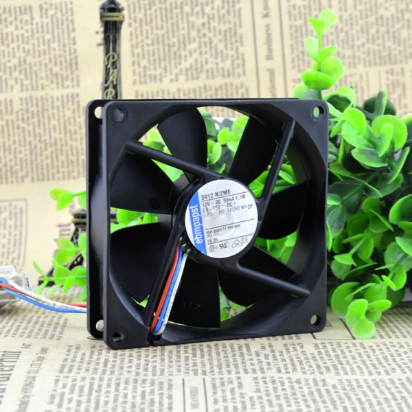 New original EBM PAPST 3412N / 2ME 9025 / 9CM 12V 1.1W 3-wire high-end cooling fan