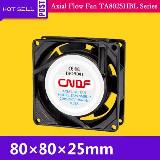 115VAC 50HZ 0.14A 15W 2300RPM Cooling Radiator Axial Fan TA8025MBL-1 Ventilation and Air Change FZY Small ventilator