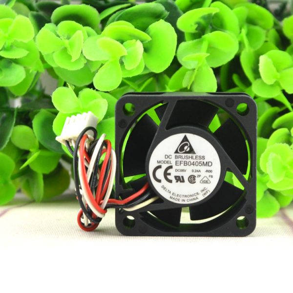 Free Shipping Delta EFB0405MD -R00 4020 4cm 40mm DC 5V 0.24A 3-pin server inverter speed computer cpu blower axial cooling fans