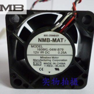 NMB 1608KL-04W-B79 LB2 DC 12V 0.25A Server Cooling Fan Server Square Fan 3-wire 40x40x20mm