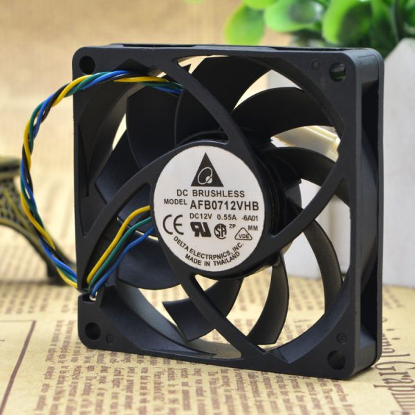 Free Delivery. The original 7 cm 7015 AFB0712VHB 4 line PWM automatic temperature control CPU cooling fans