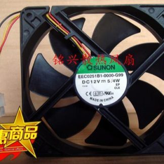 SUNON EEC0251B1-0000-G99 120*120*25mm 12cm 5.4W DC 12V 3-wire Cabinet Cooling Fan