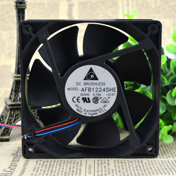 Delta AFB1224SHE 12038 120mm 12cm DC 24V 0.75A 3 lines server inverter axial cooling fan