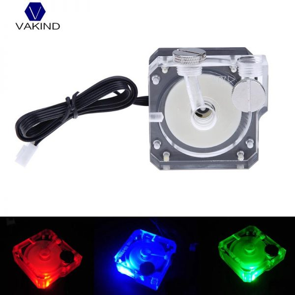 VAKIND DC 12V 0.5A Super Silent Water Circulation Pump G1/4 thread Tube Connector 4pin Pump For PC Water Cooling System