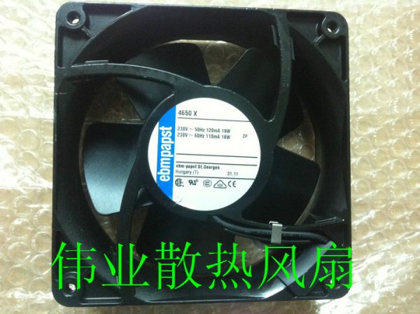 The new EBM PAPST 4650X 230V 18W 19W 120 * 120 * 38mm heat exchange iron leaf fan
