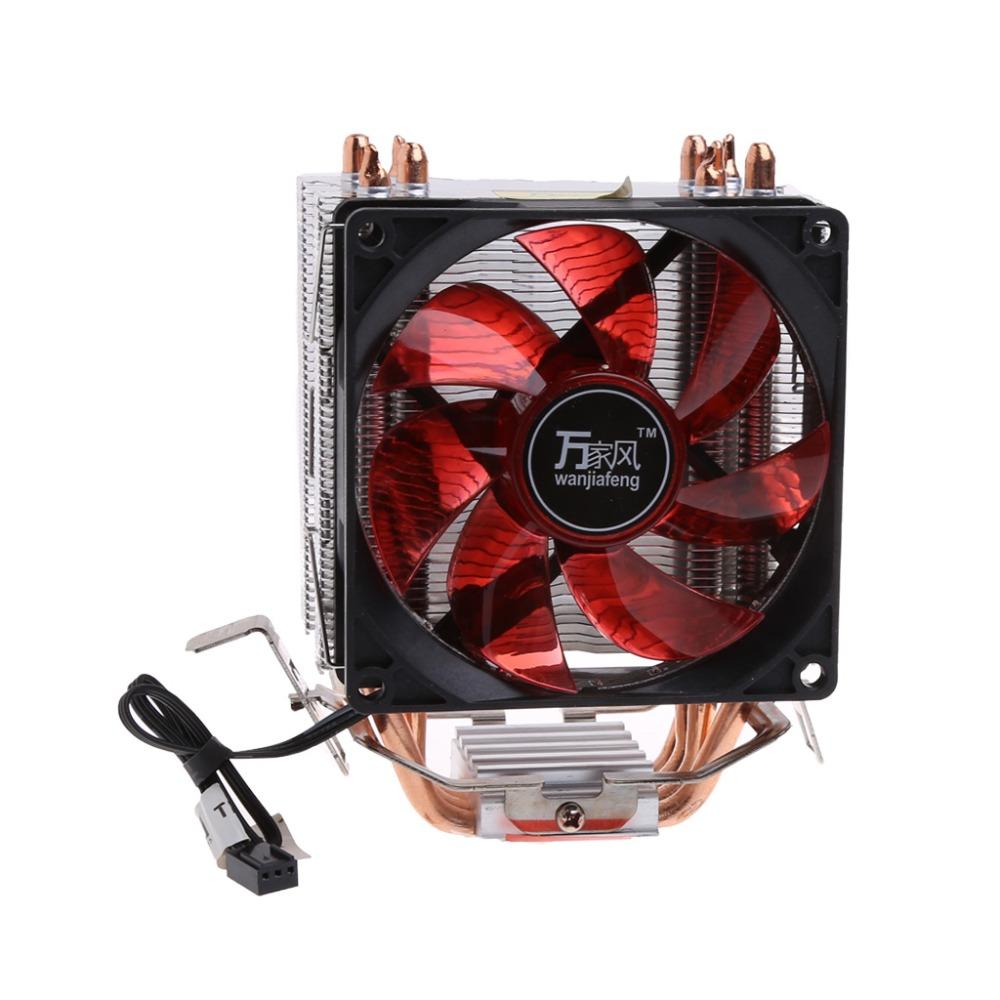 Mute CPU Fan Cooler Heatsink 4 Heatpipes Computer Radiator Cooling for Intel//AMD