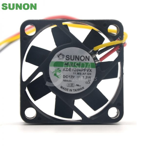 Sunon fan KDE1204PFVX 40*40*10 mm 12V 1.8W with a 3-wire switch server inverter
