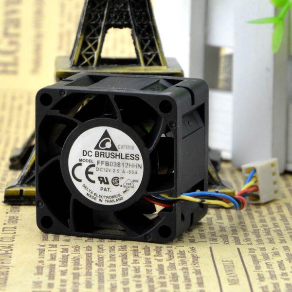 Free Delivery. Authentic FFB03812HHN 12 v 0.57 A 0.57 CM / 3828 CM PWM temperature control fan