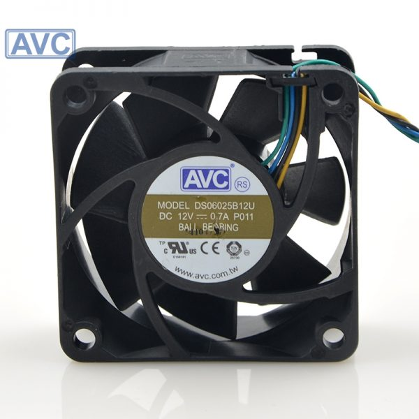 Free shipping original 6025 12V 0.7A 6cm/ DS06025B12U cm 4 wire temperature control CPU cooling fan 20pcs/lot