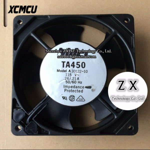 New original TA450 A30122-10 115V 0.26A 12038 12CM metal frame cabinet fan
