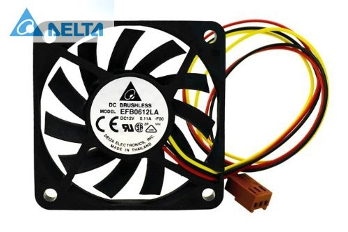 Delta EFB0612LA 60x60x10 MM 3Wire 60mm 6cm DC 12V 13.5CFM server inverter axial cooler cooling Fans